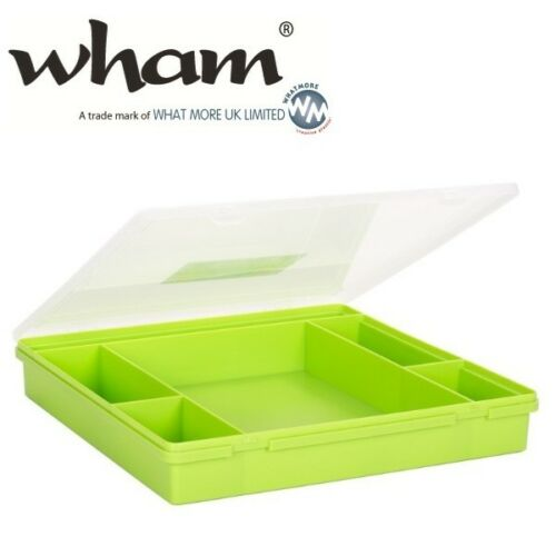 Wham ® 23356 anneaux 6-compartiments vert environ 38x39x6cm sortierkasten Assortiment encadré