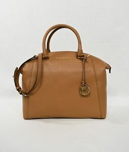 NWT! Michael Kors Riley Large Satchel Shoulder Bag in Acorn with ... f82229ce28a