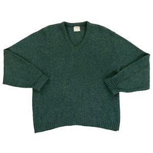 Vtg McGregor 50s 60s Sweater Mens Large Shetland Wool Mohair Blend Cobain Grunge