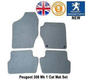 Peugeot 308 Car Mats Carpet Floor Front Rear Light Grey Genuine New ...