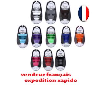 Lacet-Chaussure-Elastique-Silicone-Baskets-Adulte-Enfants-facile-16-pieces