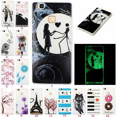 Fluorescence Glow Slim Soft TPU Rubber Silicone Luminous Case Cover For phone