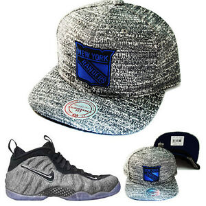 Details about Mitchell   Ness NHL New York Rangers Snapback Hat Nike Air  Foamposite Wool Cap 0be051570d7