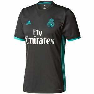 adidas Real Madrid 2017 - 2018 Away Soccer Jersey Brand New Black ... 47ee8b054d171