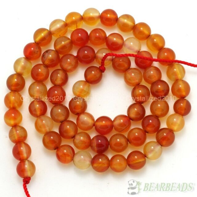 Red Carnelian Natural Agate Gemstones Round Beads 4mm 6mm 8mm 10mm 12mm 15.5''