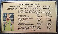 Cricket IMRAN KHAN Gold Plaque Photo 140x80 Free Post