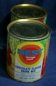 Vintage-1970s-Neo-Life-NEST-Chocolate-Flavor-Drink-Mix-Can-Full-Unopened