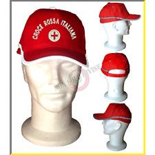 Berretto Baseball Rosso Croce Rossa Italiana CRI Con Rifrangente Alta Visibilità