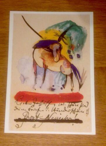 Neu Pferd Franz Marc Neujahrs- Grußkarte mit Spruch 1 Kunstkarte