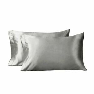 Bedsure Two Pack Satin Pillowcases Set For Hair Cool And