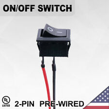 Heavy Duty Onoff Pre Wired Switch 2 Pin Toggle Rocker Push Button Wire Spst