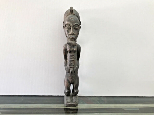 IVORY COAST TRIBE EARLY AFRICAN WOOD SCULPTURE