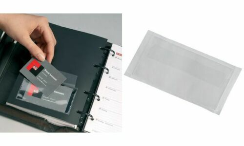10x DURABLE Selbstklebetasche POCKETFIX Visitenkartenhülle 15 Karten transparent