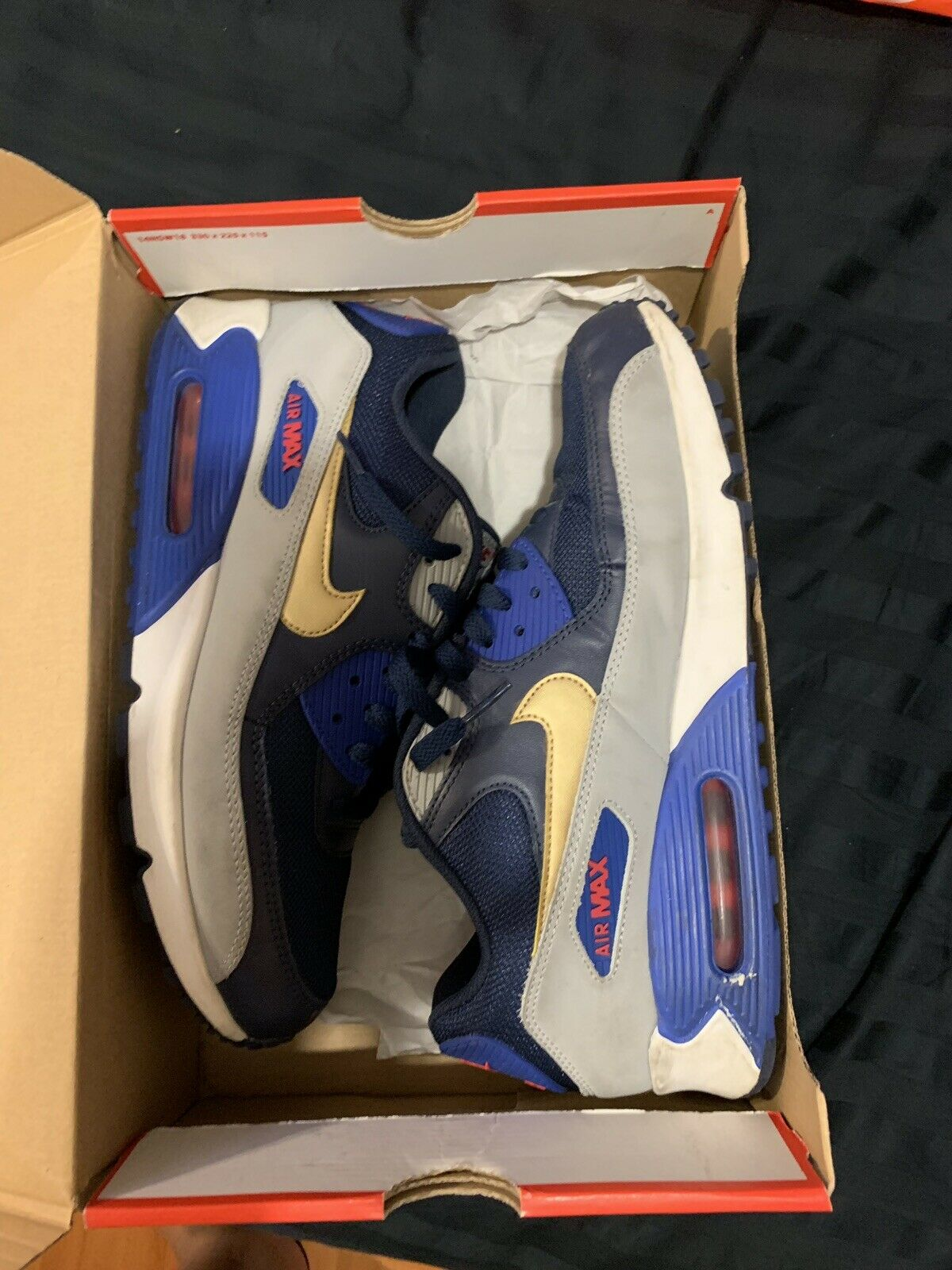 Nike Air Max 90 Essential Midnight Navy gold Yankees