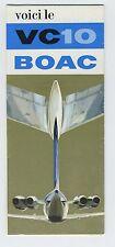 (102) Très rare brochure VC 10 BOAC 1965