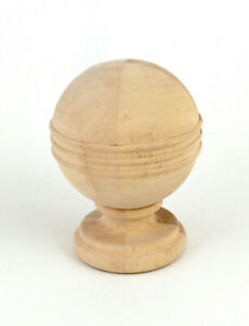 Devonshire Wood Finial For 2 Drapery