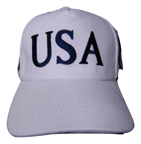 45th President Donald Trump USA American White Embroidered Cap Hat RUF