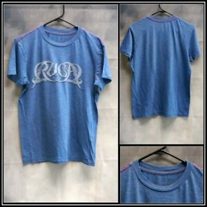 Details about RVCA Blue with Gray Black Graphics CottonPoly T Shirt Sz (S) Small #15331