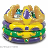 Mardi Gras Inflatable Crown Cooler (holds 24 Cans) Party Decoration Fat Tuesday