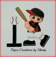 Sports Tball Boy Kids Premade Paper Piecing Scrapbooking Page Album Borders