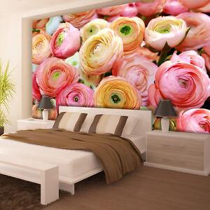 Fototapete XXL NATUR BLUMEN ROSEN Schlafzimmer Tapete Wandtapete 36