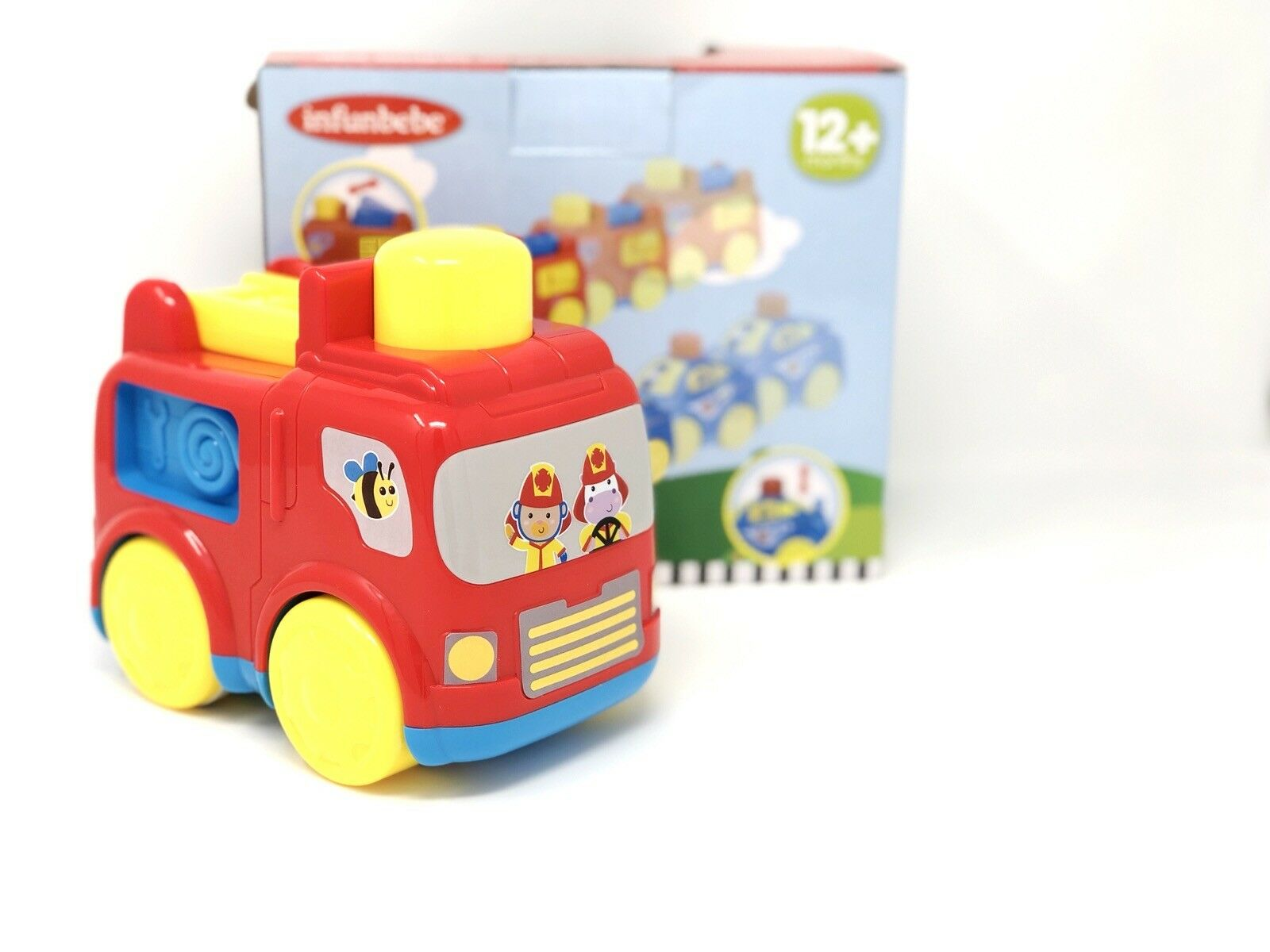 Police Car Chunky Emergency Vehicle Baby Toy Press /'n/' Go Rescue Car 12 Months