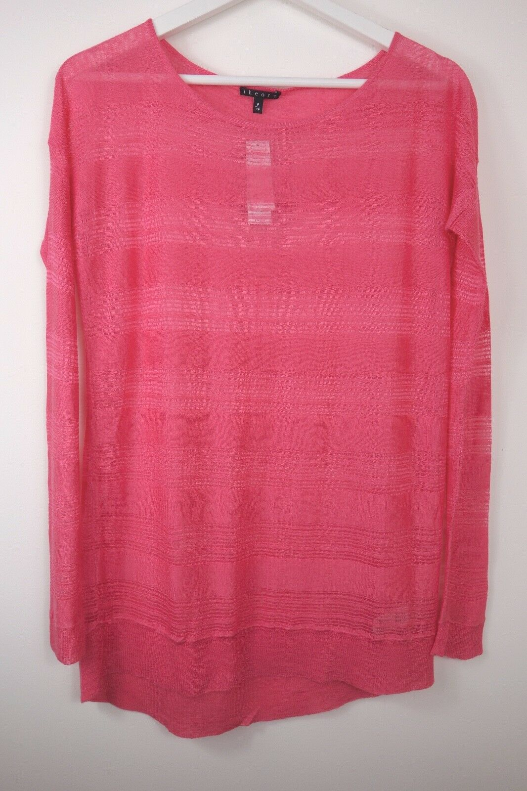 NWT Theory Taoma Sweater Neon Pink Jumper, THEORY size XS