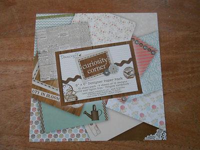 "Card Craft Paper Pad 8x8/"" Dovecraft Back to Basics Pretty Petals 150gsm"