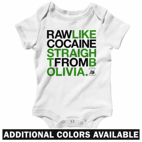 NB to 24M Raw Like Cocaine One Piece Wu-Tang Rap Baby Infant Creeper Romper