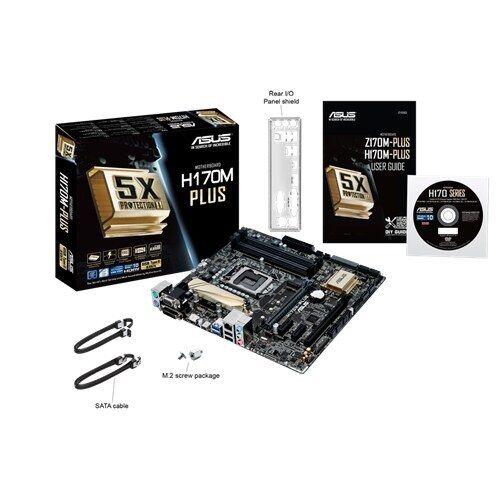 Micro ATX LGA 1151 Intel H170 Asus H170M-Plus Motherboard DDR4