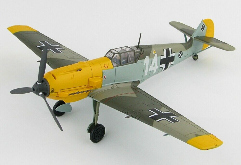 100% garantía genuina de contador Hobby Master HA8706 Messerschmitt Bf109E-4, 1.(J) LG 2, 14 14 14  Battle of Britain   nueva gama alta exclusiva