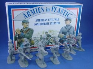 ARMIES-IN-PLASTIC-5411-Civil-War-Confederate-Infantry-20-Figures-FREE-SHIP