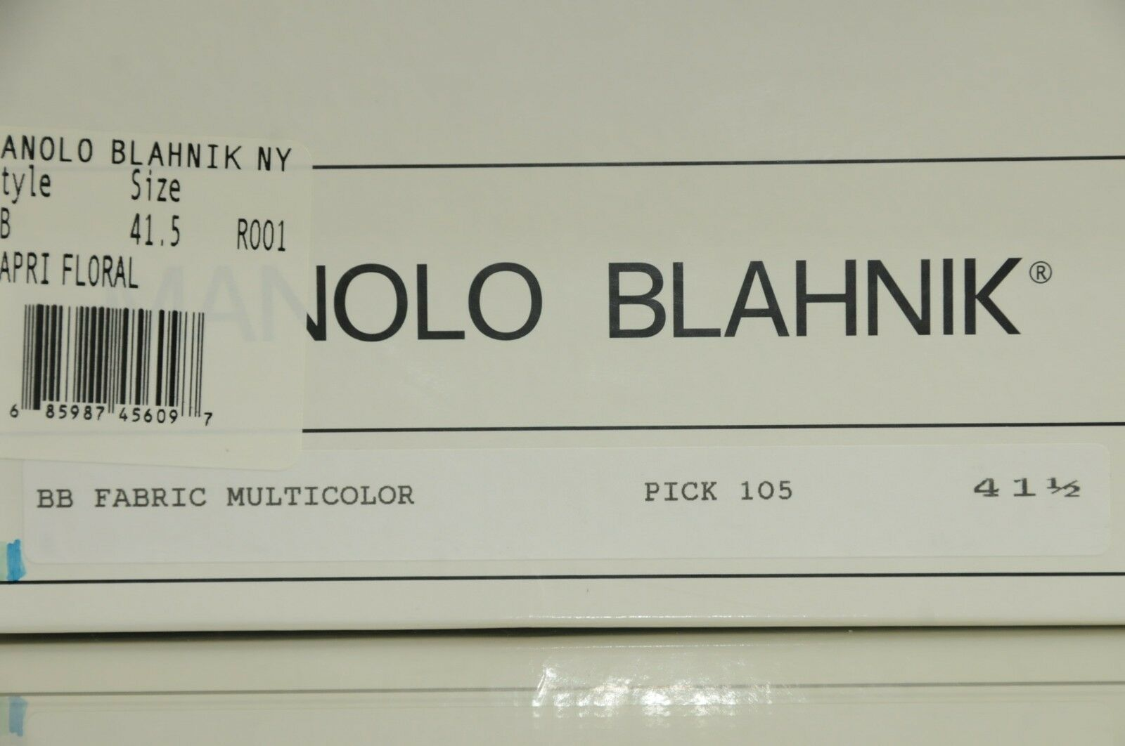 New Manolo Blahnik Blahnik Blahnik BB 105 Black Green bluee FLORAL CAPRI Pumps 38.5 39.5 41.5 d875c5