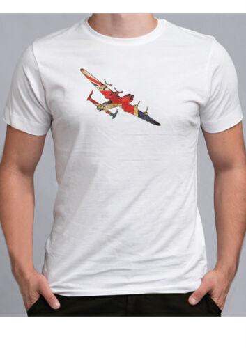 British Lancaster bomber tshirt England WW2 plane Aviation t shirt RAF war
