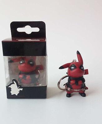 Pokemon Pikachu Deadpool Cosplay Figure Toy Gift Pikapool vinyl Toy New with box