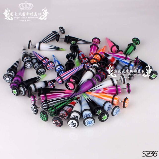 Wholesale 10mm Acrylic Fake Ear Stretcher Earring Taper Spike Piercing Jewellery