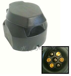 Car-tow-bar-socket-plastic-style-7-pin-12N-for-towing-electrics-12-N-FREE-POST