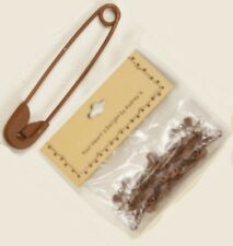 Country Primitive Metal Rusty Safety Pins Set of 25