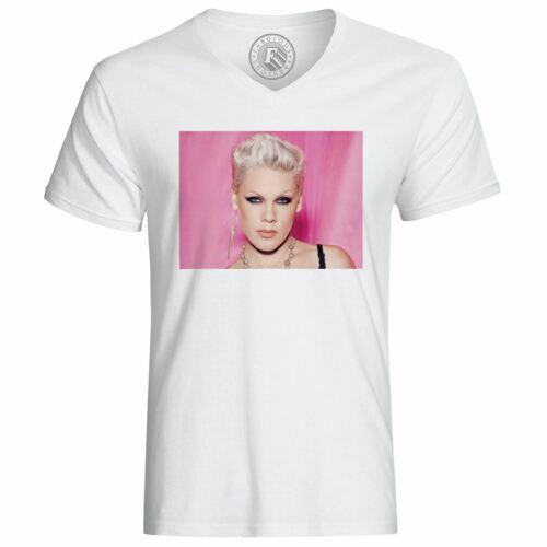 T-Shirt Homme Photo de Star Célébrité Pink Chanteuse Musique 1