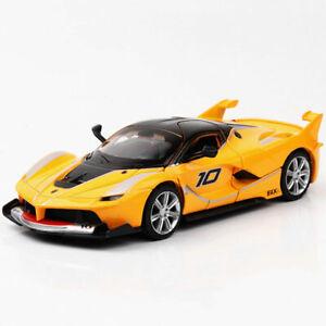 1-32-Ferrari-FXX-K-Metall-Die-Cast-Modellauto-Auto-Spielzeug-Model-Sammlung-Gelb
