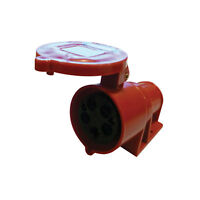 32 AMP 415V SURFACE MOUNT 5 PIN STAR POWER OUTLET SOCKET RED 3 PHASE SF-125 32A