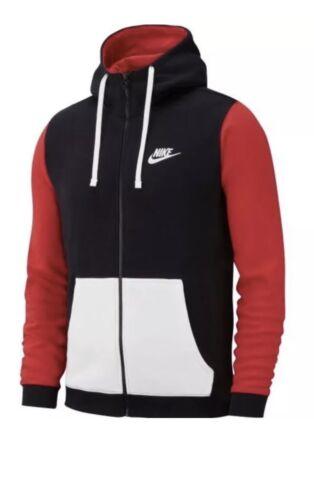 Nike 885179458117 Club Hoodie Men's Full 011 Zip Av3624 Sz Red Large Archive Bred black rYrU1STwq