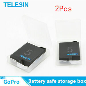 TELESIN-2Pcs-Battery-Safe-Storage-Box-For-Gopro-Battery-Action-Sports-camera-US