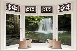Huge-3D-Bay-Window-Waterfall-View-Wall-Stickers-Film-Mural-Art-Decal-Wallpaper-6