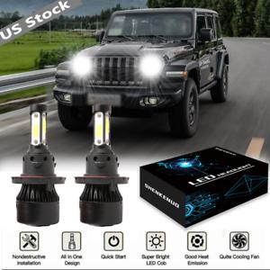 4-Side 6000K Bright LED Bulb Headlight Lamp Kit for 2010-2019 Jeep Wrangler US