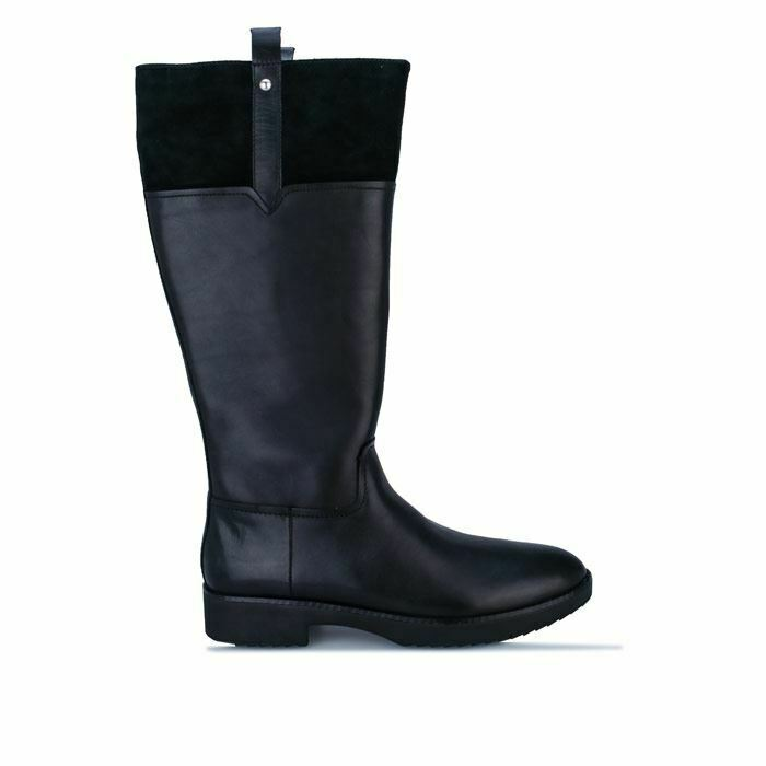 Women's Fit Flop Signey Mixte Leather Equestrian Knee High Boots in Black