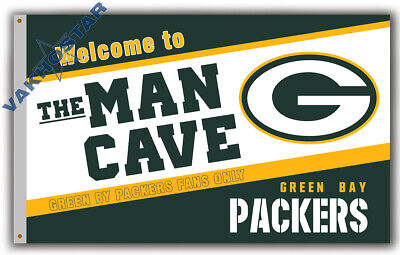Reasonable Green Bay Packers Men Cave Football Team Memorable Flag 90x150cm 3x5ft Banner Grade Products According To Quality Fan Apparel & Souvenirs Football-nfl