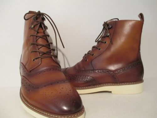 Giovanni Mens 6598 Leather Caual Ankle Dress Boot Tan Sizes 9 8.5 8 M