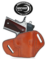 1911 3 Barrel No Laser Grips Owb No Shield R/h Brown Holster