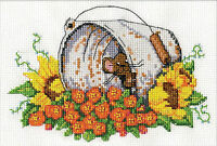 Cross Stitch Kit Design Works Flower Garden Bucket Mouse Dw2951